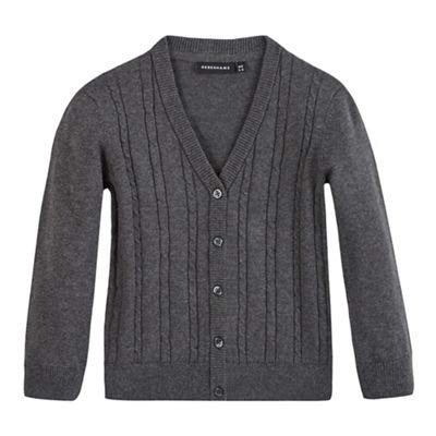 Debenhams Kids Girls' Grey Cable Knit Cardigan