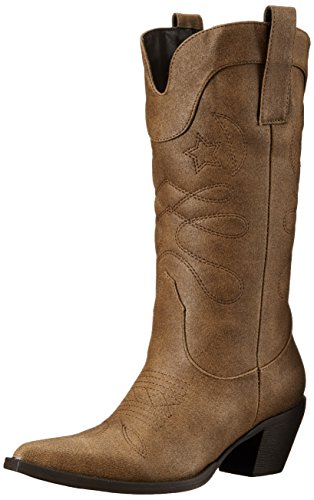 Women's Adtec Work Pull On Brown Boot Light 14 Inch Western qCawpCvd
