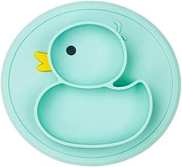 Color : Grey Placa del Pato del beb/é Plato Mat Tabla de Silicona Ventosa Antideslizante Mini Mat Ni/ño Ni/ños Ni/ño Comida de la Fruta Alimentaci/ón Prato
