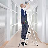 Delxo Folding 4 Step Ladder, 4.5-Feet Portable