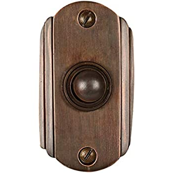 Wired Brass Doorbell Chime Push Button In Oil Rubbed