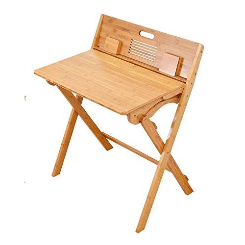 Escritorio plegable para computadora Escritorio para niños Mesa de estudio para estudiantes de escuela primaria de madera maciza Escritorio Escritorio para tareas escolares Escritorio y silla para niños, Bambú Estaciones de Trabajo para Computadora