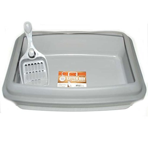 Bonita P Litter Box w Scoop 12x16in Gray, Case of 18 by DollarItemDirect