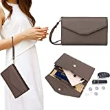Zg Wristlets for Women, Cell Phone Clutch Wallet, Passport Wallet, All In One Purse Extra Capacity - Chocolate1