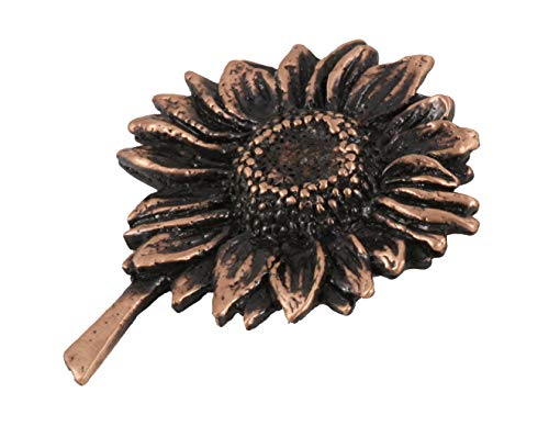 (Creative Pewter Designs Sunflower Flower Copper Plated Lapel Pin, Brooch, Jewelry, AC122)
