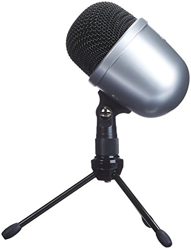 AmazonBasics Desktop Mini Condenser Microphone With Tripod - Silver