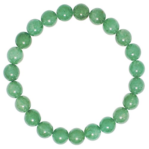 [Natural Genuine Green Aventurine Jade,maxin 8MM elastic Stretch Loose bead Beaded Bracelet Set.Unisex] (Yellow Jade Beaded Bracelet)