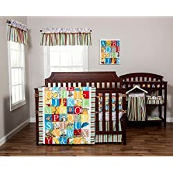 Dr. Seuss Alphabet Seuss 8-Piece Complete Nursery Crib bedding set by Trend Lab