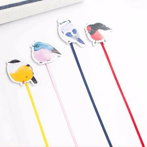 Colorful Birds Magnet Bookmark Paper Clip School Office Supply Gift Stationery