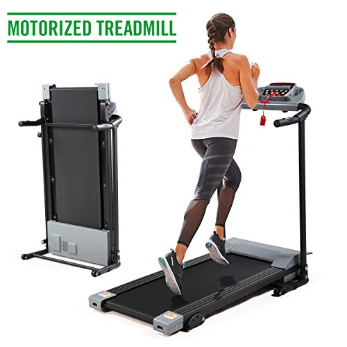 JAXPETY Gray Folding Exercise Machine 2.0HP Electric Motorized Treadmill for Home Gym Exercise Walking Fitness