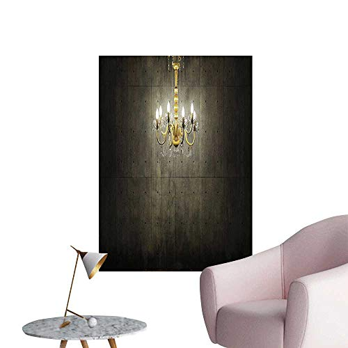 Wall Painting Golden Chandelier in A Dark Gothic Wooden Room Vintage Style Room Picture Golden High-Definition Design,24