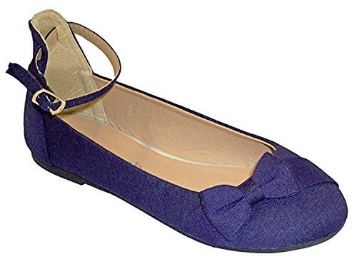 Girls Pretty Bow Flip On Flats with Bow Tie (Little Girl/Kids) Ballet Flats Ballerina Shoes (11 Kids, -