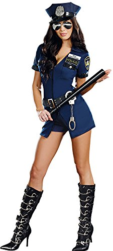 Navy Police Cop Halloween Costume One Size M-L ()