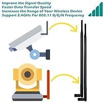 TECHTOO 9dBi WiFi Antenna with SMA Male SMA-Plug Connector Compatible W//Anran IP