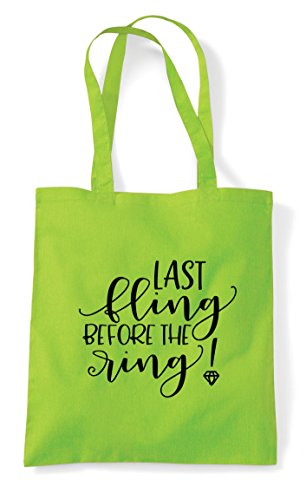 Before Fling Engagement The Lime Party Last Ring Bag Statement Tote Shopper R5xPnPwq1