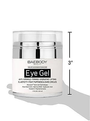 BAEBODY EYE GEL PARA CÍRCULOS OSCUROS, HINCHAZÓN, ARRUGAS Y BOLSAS. - El gel para ojos antienvejecimiento más eficaz para debajo y alrededor de los ojos. - 1.7 fl oz