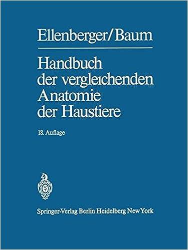 Handbuch der vergleichenden Anatomie der Haustiere: Amazon.de: Otto ...