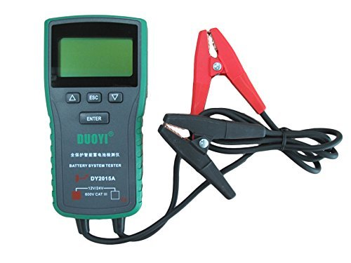 Automotive Battery Tester 12V & 24V Voltage With Cold Cranking Amps 100-1700 Battery Analyzer For Battery Status, Engine Activtion System, Charging System, Maximum Work Loading 4 IN 1