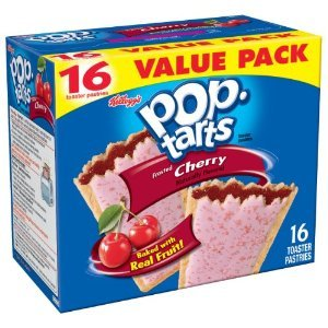 Kellogg's, Pop-Tarts, Frosted Cherry, 16 Count, 32oz Box (Pack of 2) by Pop-Tarts (Image #1)