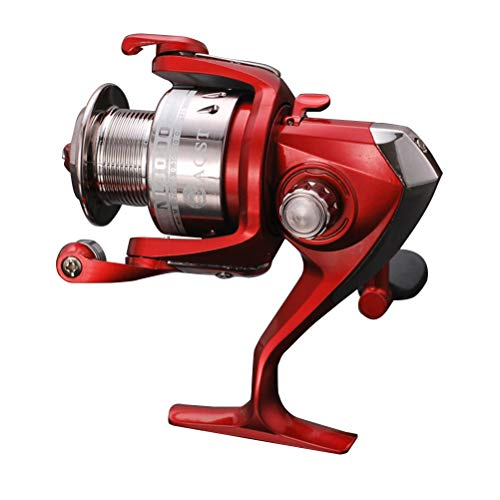 LIOOBO Fishing Reel Aluminum Spinning Fishing Reel for Saltwater or Freshwater Fishing Size NL5000 (Red)