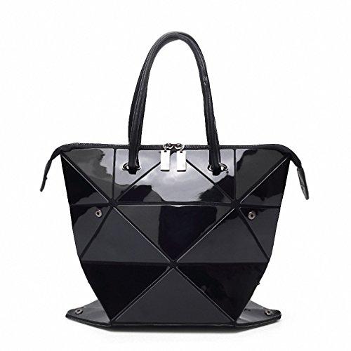 NEW new famous designer bag shiny color japanese style women handbag PU bags white women handbags shopping bag Black