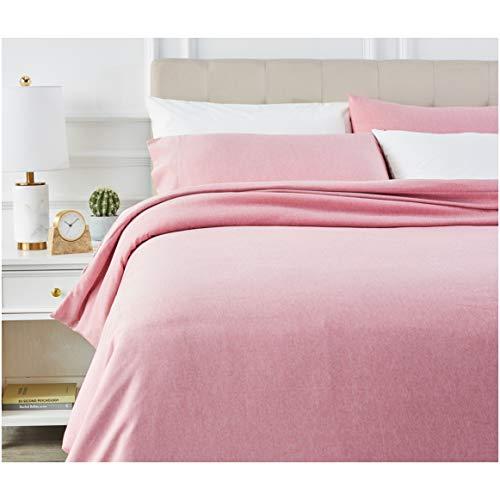 AmazonBasics - Juego de ropa de cama con funda de edredon, de microfibra, 260 x 220 cm, Rojizo (Sandy Red)