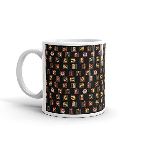 (Scarry Fast Food Pattern Donut Fear Tea Fun Mug Ceramic Cups)