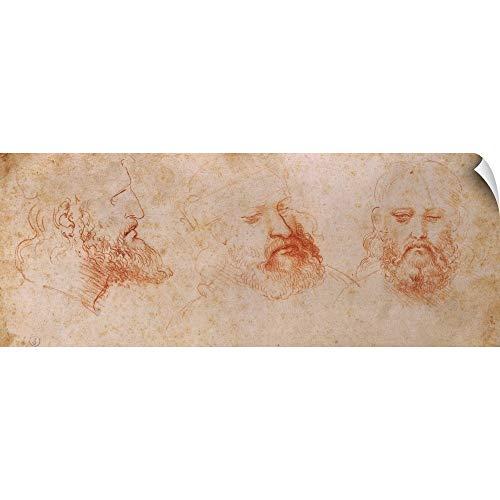 - CANVAS ON DEMAND Leonardo da Vinci Wall Peel Wall Art Print Entitled Possible Portrait of Cesare Borgia, by Leonardo da Vinci, 1502. 36