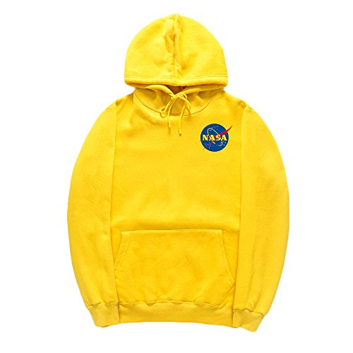 CORIRESHA Fashion NASA Logo Print Hoodie Sweatshirt with Kangaroo Pocket(smaller than standard size) ()