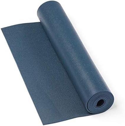 Tapete de yoga pvc premium ecológico, antiderrapante, Yoga Mat com durabilidade e conforto - 4.5mm 183 x 60cm (Azul)