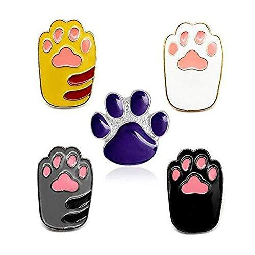 Romanticworks Enamel Lapel Pin Set Badge Pins Women Girls Backpacks Jackets (paw Set of 5)
