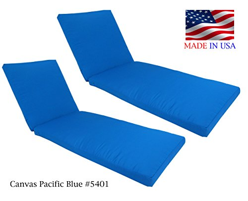Made in USA Outdoor Patio Chaise Lounge Cushion 26