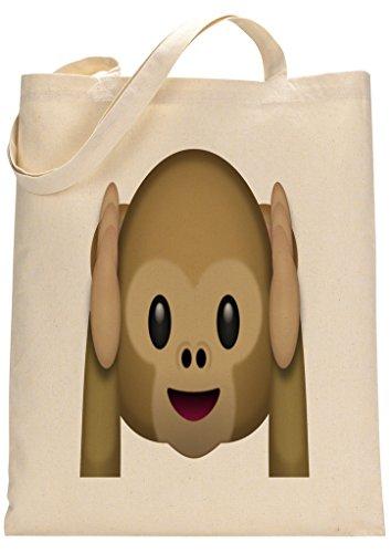 Monkey Emoji Funny Custom Made Tote Bag