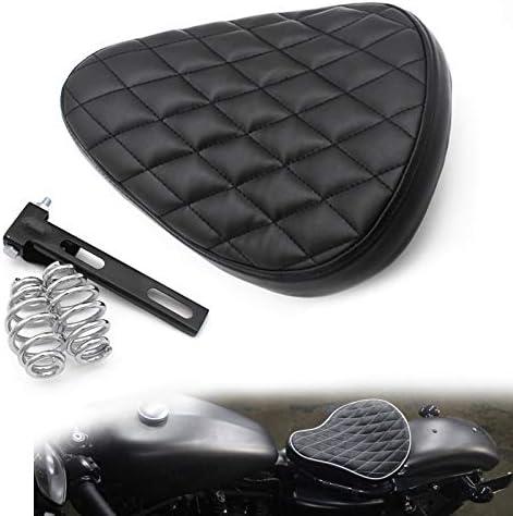 Yebobo 3 Inch Motorcycle Bracket Seat Spring with Swivel Bracket for Custom Chopper Bobber Saddle Seat Leather