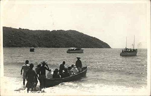 Boat Launching From Beach Boats Ships Original Vintage Postcard