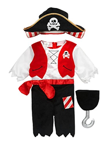 [Koala Kids Infant Boys Pirate Costume with Hat & Plush Toy Hook] (Babies R Us Toddler Halloween Costumes)