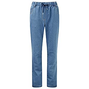 Cotton Traders Womens Ladies Jersey Denim Jeans Casual Comfort Leg 31″