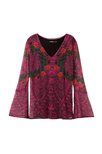 Desigual Mujer Para Camiseta Mujer Fucsia Desigual Desigual Para Fucsia Camiseta Camiseta Para rzwqUrfIn
