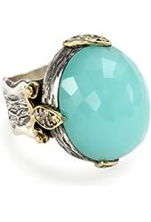 BORA Chalcedony Moon Ring, Size 7