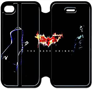 Leather Smart Cover With Flip Stand Phone Case iphone 4 4s-The Joker-2