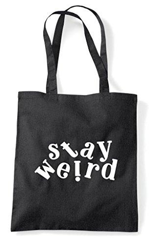 Statement Black Shopper Weird Stay Tote Bag R5C7nXqXxw