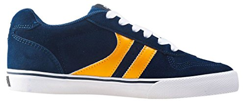 Globe Encore 2 Marine Or Hommes Suede Skate Baskets Chaussures