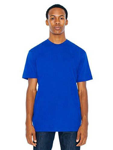 American Apparel Men 50/50 Crewneck T-Shirt Size XS Lapis American Apparel Mens Tee