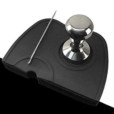 UNIEVE Silicone Coffee Tamper Mat Espresso Silicone Mat,Espresso Tamper Mat,Coffee Tamp Mat black