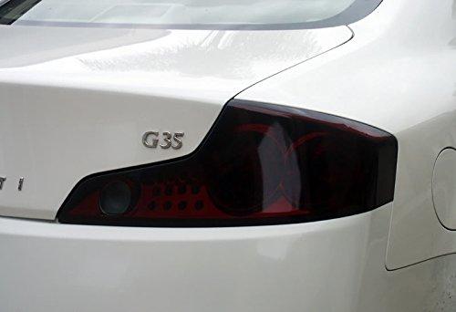 Aggressive Overlays Fits: Infiniti G35 Coupe - Smoked Vinyl Tail Light Overlay kit Film