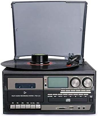 ALIZJJ ターンテーブルレコードプレーヤースピーカープレーヤー3速ウッドレトロな蓄音機、Bluetooth機能をサポート