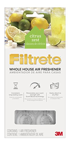 Whole House Vents - Filtrete WHAF-1-CZ Citrus Zest Whole House Air Freshener for Hvac Filter