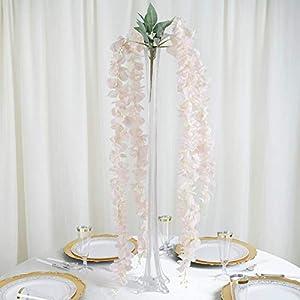 BalsaCircle 45-Inch Tall Hanging Artificial Wisteria Flowers Vine Garland Plant Wedding Party Centerpieces Arrangements Supplies 20