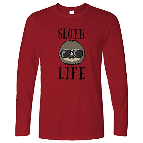 Novelty Long Sleeve Sloth Life Thug Animal Lazy Funny Slogan Cute Sunglasses - Sunglasses Sloth