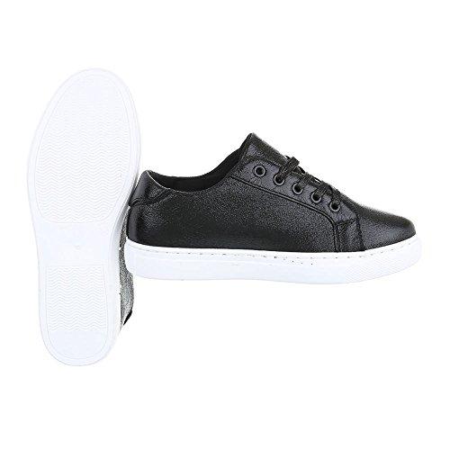 Low Top Design Ital Schnürsenkel Kinderschuhe Schwarz Sneaker Damenschuhe Freizeitschuhe Rq4w5a
